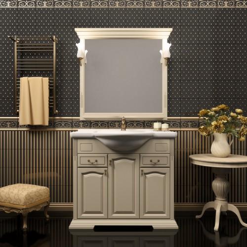 Мебель для ванной Opadiris Риспекто 105 напольная слоновая кость