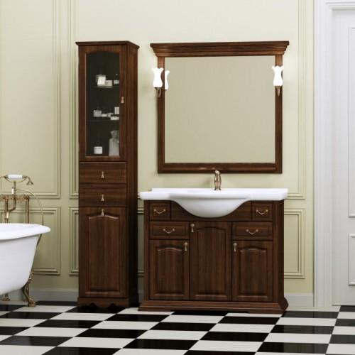 Мебель для ванной Opadiris Риспекто 105 напольная темное дерево
