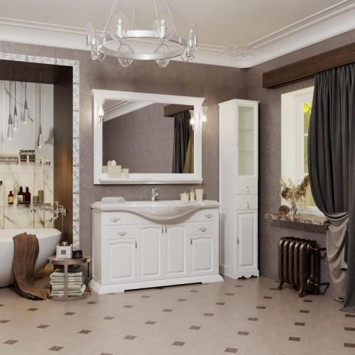 Мебель для ванной Opadiris Риспекто 120 напольная белая