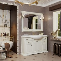 Мебель для ванной Opadiris Риспекто 120 напольная слоновая кость