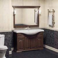 Мебель для ванной Opadiris Риспекто 120 напольная темное дерево