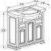 Мебель для ванной Opadiris Риспекто 95 напольная слоновая кость