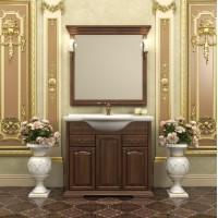Мебель для ванной Opadiris Риспекто 95 напольная темное дерево