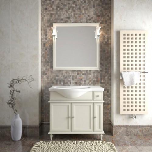 Мебель для ванной Opadiris Санрайз 90 напольная cлоновая кость левая