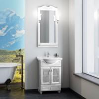 Мебель для ванной Opadiris Тибет 55 напольная белая с решеткой