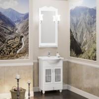 Мебель для ванной Opadiris Тибет 55 напольная белая со стеклом
