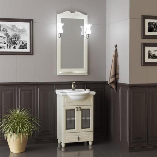 Мебель для ванной Opadiris Тибет 55 напольная слоновая кость со стеклом