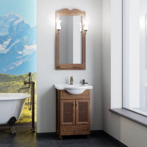 Мебель для ванной Opadiris Тибет 55 напольная темное дерево с решеткой