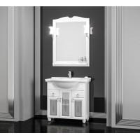 Мебель для ванной Opadiris Тибет 90 напольная белая со стеклом
