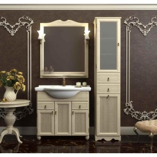Мебель для ванной Opadiris Тибет 90 напольная слоновая кость с решеткой