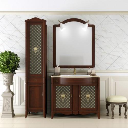 Мебель для ванной Opadiris Виктория 90 напольная красное дерево