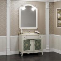 Мебель для ванной Opadiris Виктория 90 напольная слоновая кость