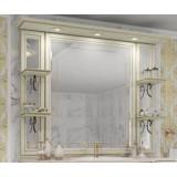 Зеркало Opadiris Корсо Оро 139x108 00-00000606 с подсветкой с полочками