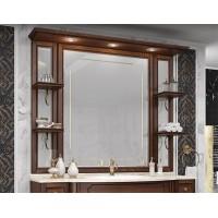 Зеркало Opadiris Корсо Оро 139x108 00-00000607 с подсветкой с полочками