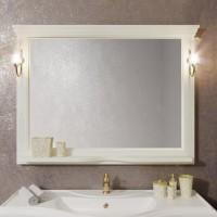 Зеркало Opadiris Риспекто 129x101 Z0000009685 с полочкой