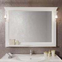 Зеркало Opadiris Риспекто 129x101 Z0000012656 с полочкой