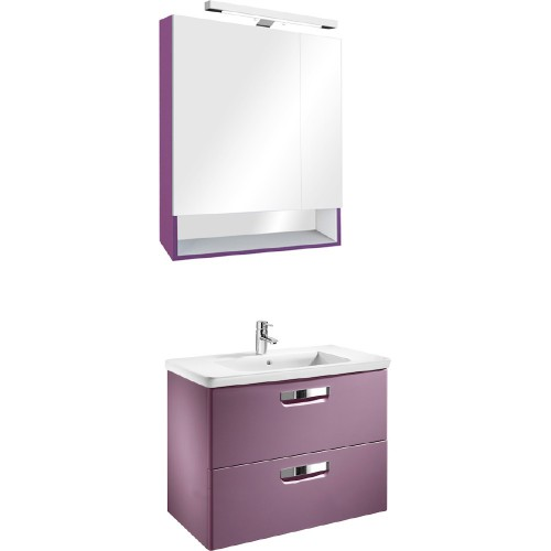 Мебель для ванной Roca Gap 70 подвесная фиолетовая