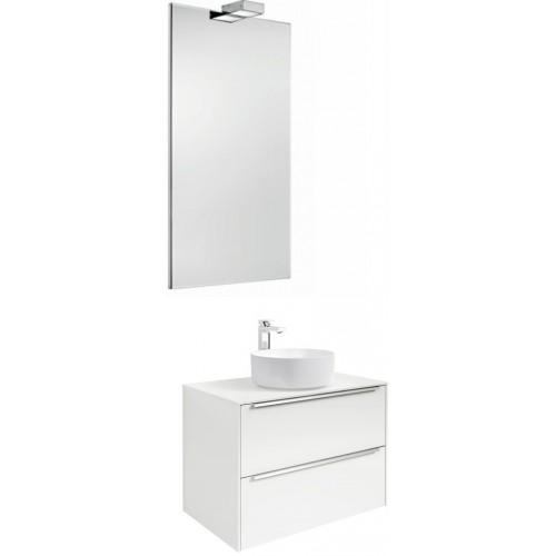 Мебель для ванной Roca Inspira 60 подвесная белая с раковиной Inspira round 37 см