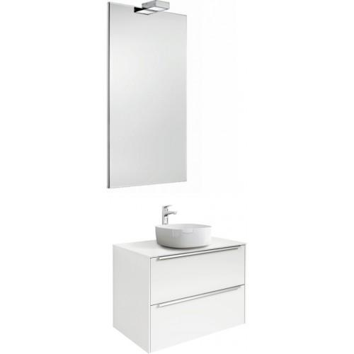 Мебель для ванной Roca Inspira 60 подвесная белая с раковиной Inspira soft 37 см