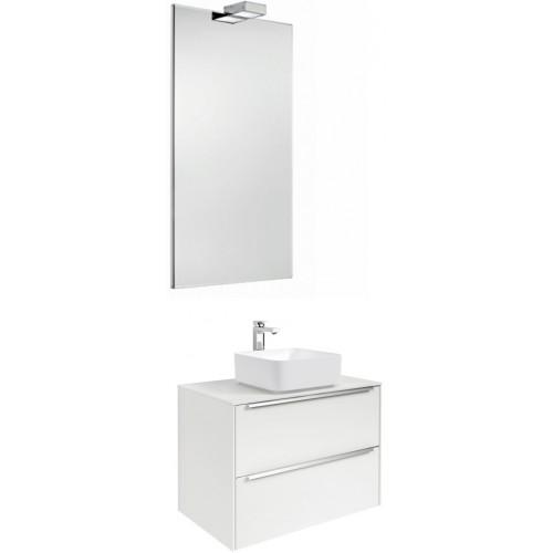 Мебель для ванной Roca Inspira 60 подвесная белая с раковиной Inspira square 37 см