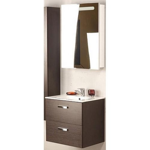 Мебель для ванной Roca Victoria Nord 60 подвесная левая венге зеркальный шкаф белый глянцевый