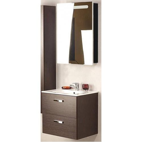 Мебель для ванной Roca Victoria Nord 60 подвесная левая зеркальный шкаф черный глянцевый
