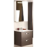 Мебель для ванной Roca Victoria Nord 60 подвесная правая венге зеркальный шкаф белый глянцевый