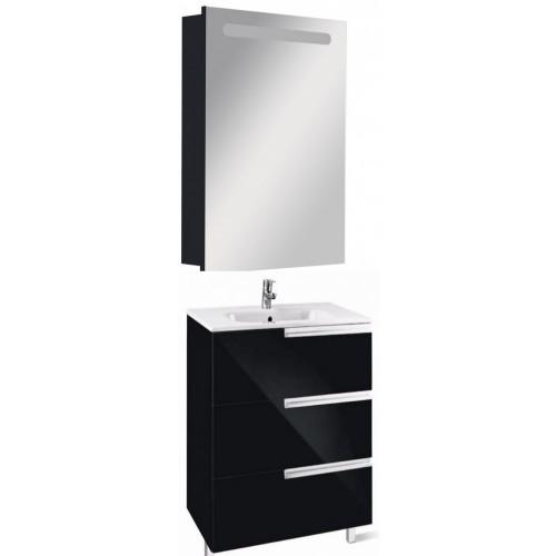 Мебель для ванной Roca Victoria Nord Black Edition 60 подвесная левая три ящика