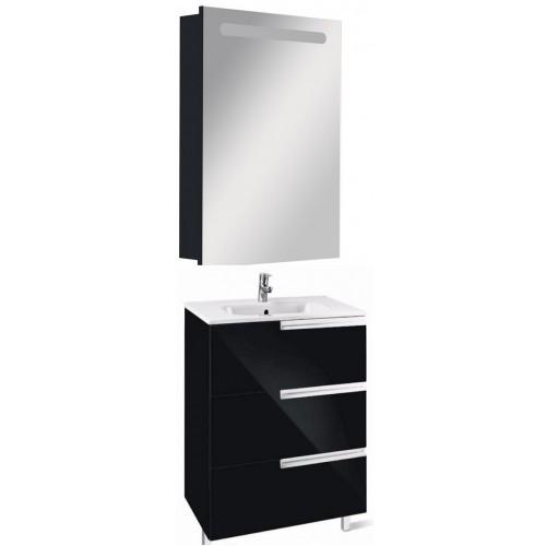 Мебель для ванной Roca Victoria Nord Black Edition 60 подвесная правая три ящика