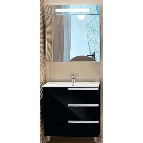 Мебель для ванной Roca Victoria Nord Black Edition 80 подвесная три ящика