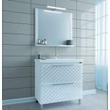 Мебель для ванной СаНта Калипсо 80 напольная с зеркалом Калипсо