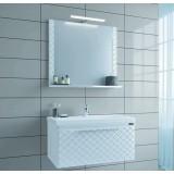 Мебель для ванной СаНта Калипсо 80 подвесная с зеркалом Калипсо
