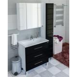 Мебель для ванной СаНта Омега 80 напольная черная