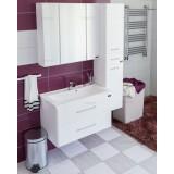 Мебель для ванной СаНта Омега 80 подвесная с 2 ящиками с зеркалом-шкафом Стандарт
