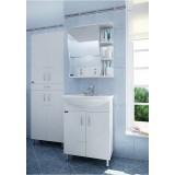 Мебель для ванной СаНта Сити 60 напольная с дверками левая