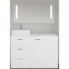 Мебель для ванной Style Line Берн 120 напольная с зеркалом с подсветкой