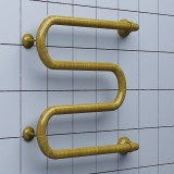Полотенцесушитель водяной Ника Simple М 50/40 бронза