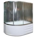 Шторка на ванну Diana 170х105TW белая, без профиля