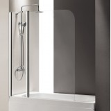 Шторка на ванну Cezares Eco O-V-11-120/140-C-Cr стекло прозрачное