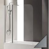 Шторка на ванну Cezares Eco O-V-11-120/140-P-Cr-L стекло punto