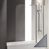 Шторка на ванну Cezares Eco O-V-11-120/140-P-Cr-R стекло punto