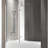 Шторка на ванну Cezares Eco O-V-21-120/140-C-Cr стекло прозрачное
