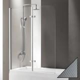 Шторка на ванну Cezares Eco O-V-21-120/140-P-Cr-L стекло punto