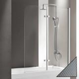 Шторка на ванну Cezares Eco O-V-21-120/140-P-Cr-R стекло punto
