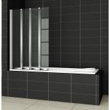 Шторка на ванну Cezares Pratico V4 100/140 P Cr L