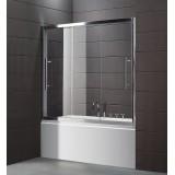 Шторка на ванну Cezares Trio V22 150/145 C Cr