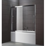 Шторка на ванну Cezares Trio V22 170/145 P Cr