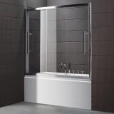 Шторка на ванну Cezares Trio V22 190/145 C Cr