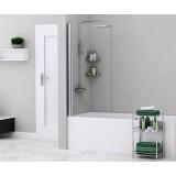 Шторка на ванну WasserKRAFT Berkel 48P01-80 WHITE, стекло, одностворчатая, белая