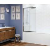 Шторка на ванну Wasserkraft Main 41S02 100х140 L Matt glass